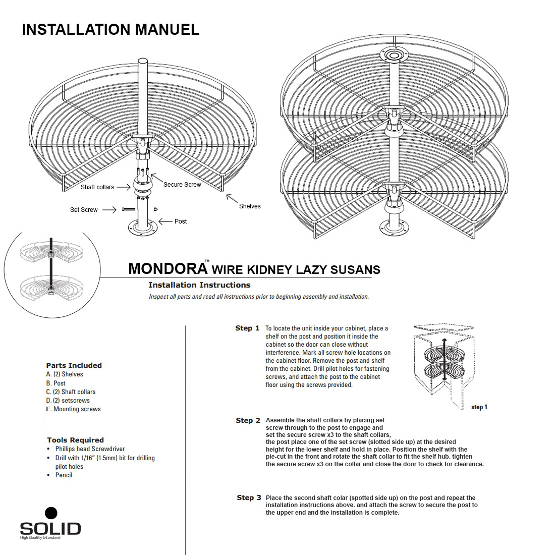 lazy susan install guide